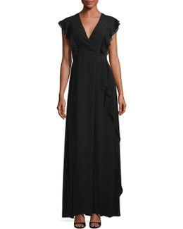 Callie Ruffle Gown