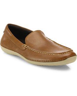 Motogrand Roadtrip Leather Venetian Loafers