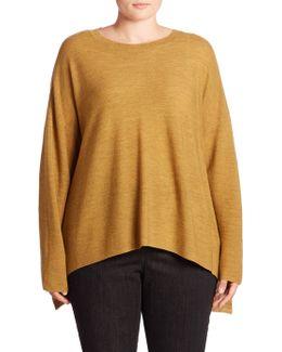 Merino Wool Hi-lo Sweater