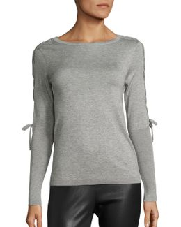 Silk & Cashmere Lace-up Top