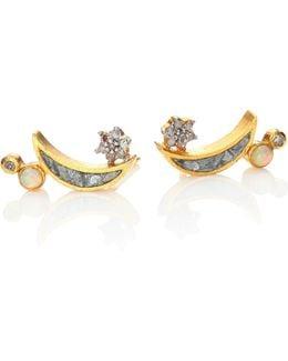 Kolar Diamond & Opal Stud Earrings