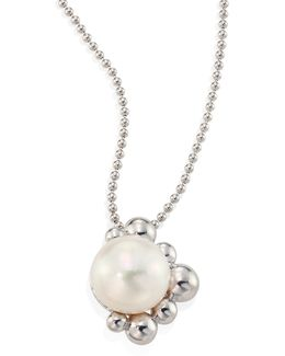 Bubbling Brook Dew Drop 9-10mm Cultured Freshwater Pearl & Sterling Silver Pendant Necklace