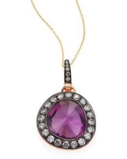 Dusty Diamonds Amethyst Pendant