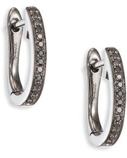 Eclipse Diamond & 18k White Gold Fine Hoop Earrings/1