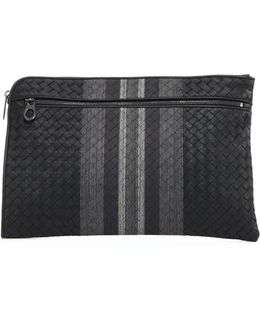 Leather Woven Pouch