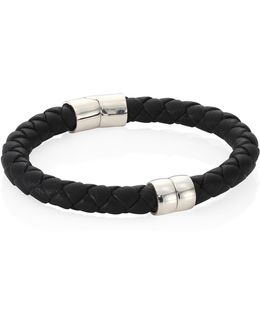 Braided Rope Leather Bracelet