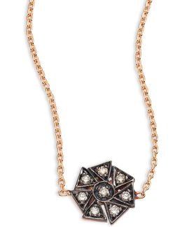 Geometrical Champagne Diamond & 14k Rose Gold Choker