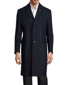 Single-breasted Cashmere Blend Overcoat