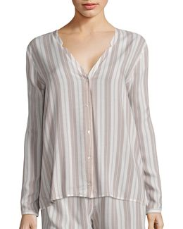 Lara Striped Pajama Shirt
