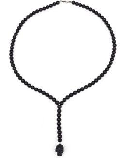 Skull Ball Neck Nero Chain