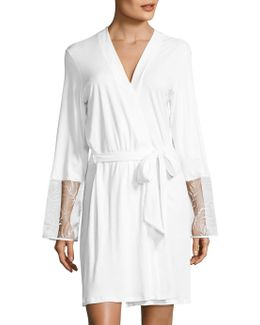 Anna Embroidered Sea Island Cotton Robe