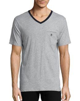Sport Short Sleeve V-neck T Shirt