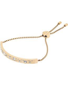 Pavé Bar Plaque Slider Bracelet
