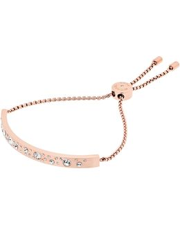 Modern Brilliance Crystal Slider Bracelet/rose Goldtone