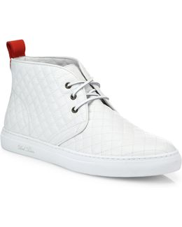 Quilted Leather Chukka Sneakers