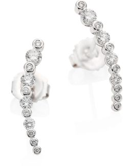 Starry Night Diamond & 18k White Gold Earrings