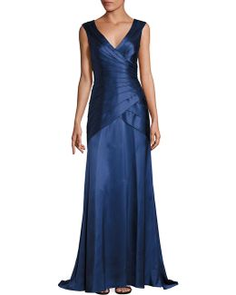 Tiered Wrap Gown