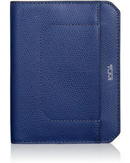 Embossed Leather Passport Cover