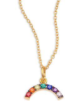 Mini Rainbow Crystal Pendant Necklace