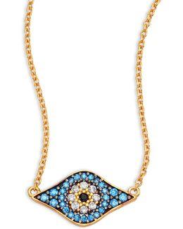 Kitten Eye Crystal Pendant Necklace