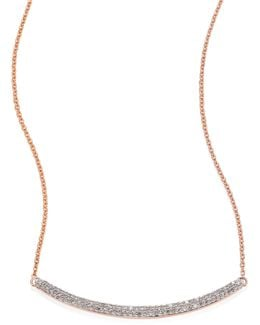 Skinny Curve Diamond Necklace