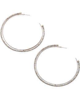 Crystal Lace Orbiting Hoop Earrings/3.25