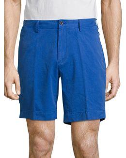 Straight-fit Pima Chino Shorts