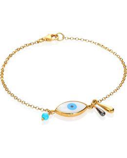 Evil Eye Raindrop Opal & Turquoise Bracelet