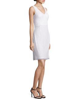 Sleeveless V-neck Sequin Dress