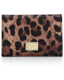 Leopard-print Card Holder