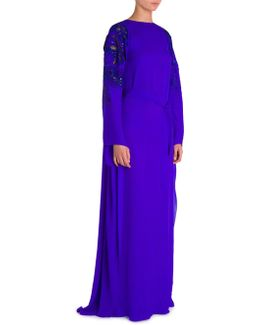 Embroidered Caftan Gown