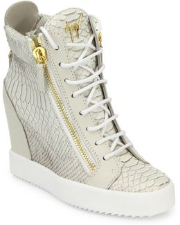 Lamaylorenz Leather Wedge Sneakers