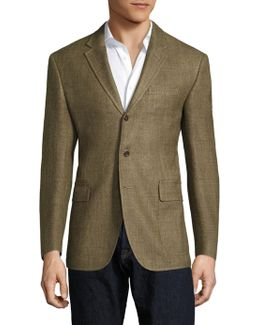 Regular-fit Harvard Wool & Silk-blend Blazer