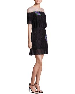 Off-the-shoulder Illusion Dress