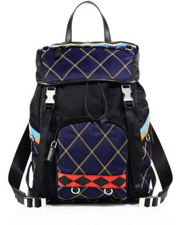 Tessuto Impunto Nylon Backpack