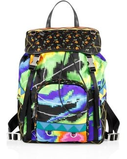 Tessuto Patch Nylon Backpack
