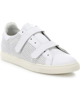 Ezika Grip-tape Leather Sneakers
