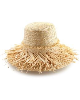 Hula Skirt Raffia Sun Hat