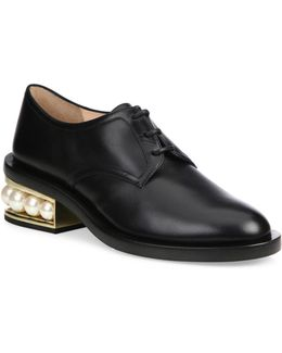 Casai Pearly Heel Leather Oxfords