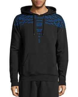 Number Graphic Hooded Sweatshirt