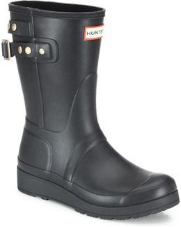 Original Studded-strap Short Wedge Rain Boots