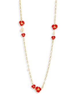 Fleur Faux-pearl Rosary