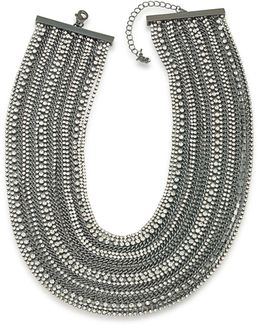 Rockstars Multi-row Crystal Torsade Necklace