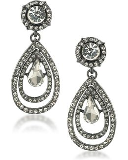 Set In Stone Crystal Double Teardrop Earrings