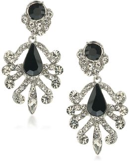 Set In Stone Crystal Chandelier Earrings