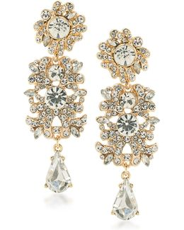 Set In Stone Linear Crystal Chandelier Earrings