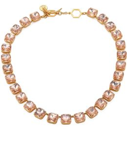 Crystal Stone Short Necklace