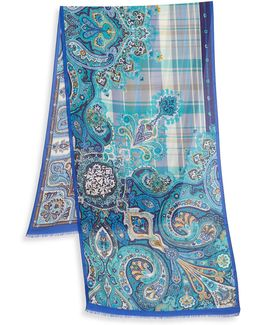 Printed Cashmere Blend Scarf