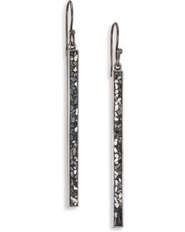 Jemma Miladi Raw Sliced Diamond Drop Earrings