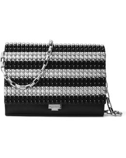 Studded Leather Crossbody Clutch